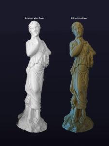 3D scanning af gips statue